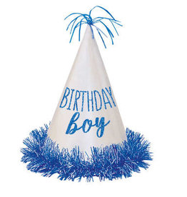 Birthday Boy Glitter Party Hat