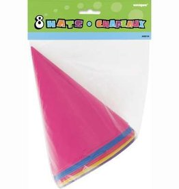 Party Hats - Assorted Colors 8ct