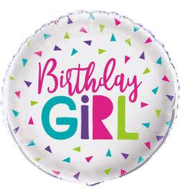 """Confetti 'Birthday Girl' Foil Birthday Balloon 18"""""""