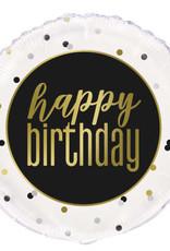 "Metallic 'Happy Birthday' Foil Balloon 18"""