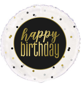Metallic 'Happy Birthday' Foil Balloon 18""