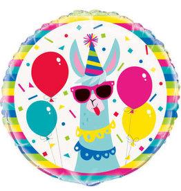 "Cool Llama Foil Balloon 18"""