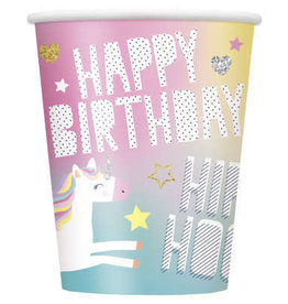Paper 8PK Unicorn Cups