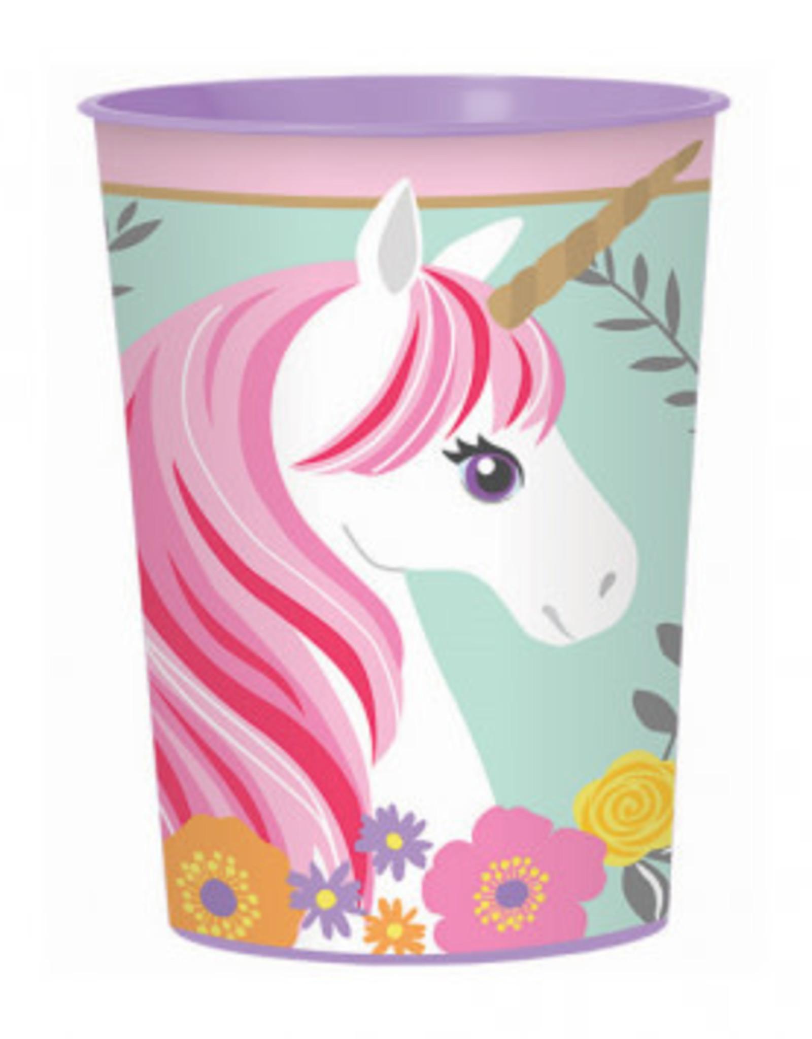 Plastic Reusable Magical Unicorn Cup