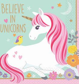 Believe In Unicorns Beverage Napkins