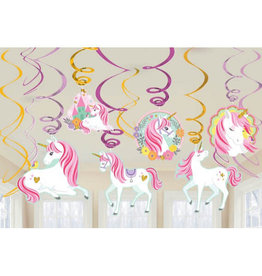 Magical Unicorn Value Pack Foil Swirl Decorations