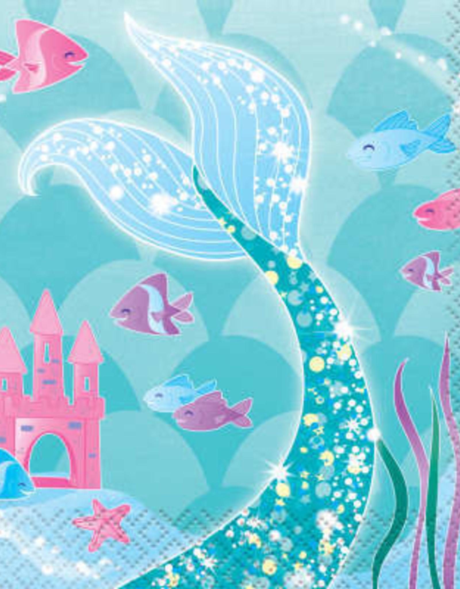 Mermaid Beverage Napkins 16ct