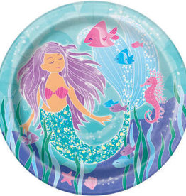 "Mermaid Round 9"" Dinner Plates"
