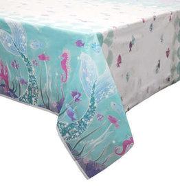 Mermaid Rectangular 6FT Plastic Tablecloth