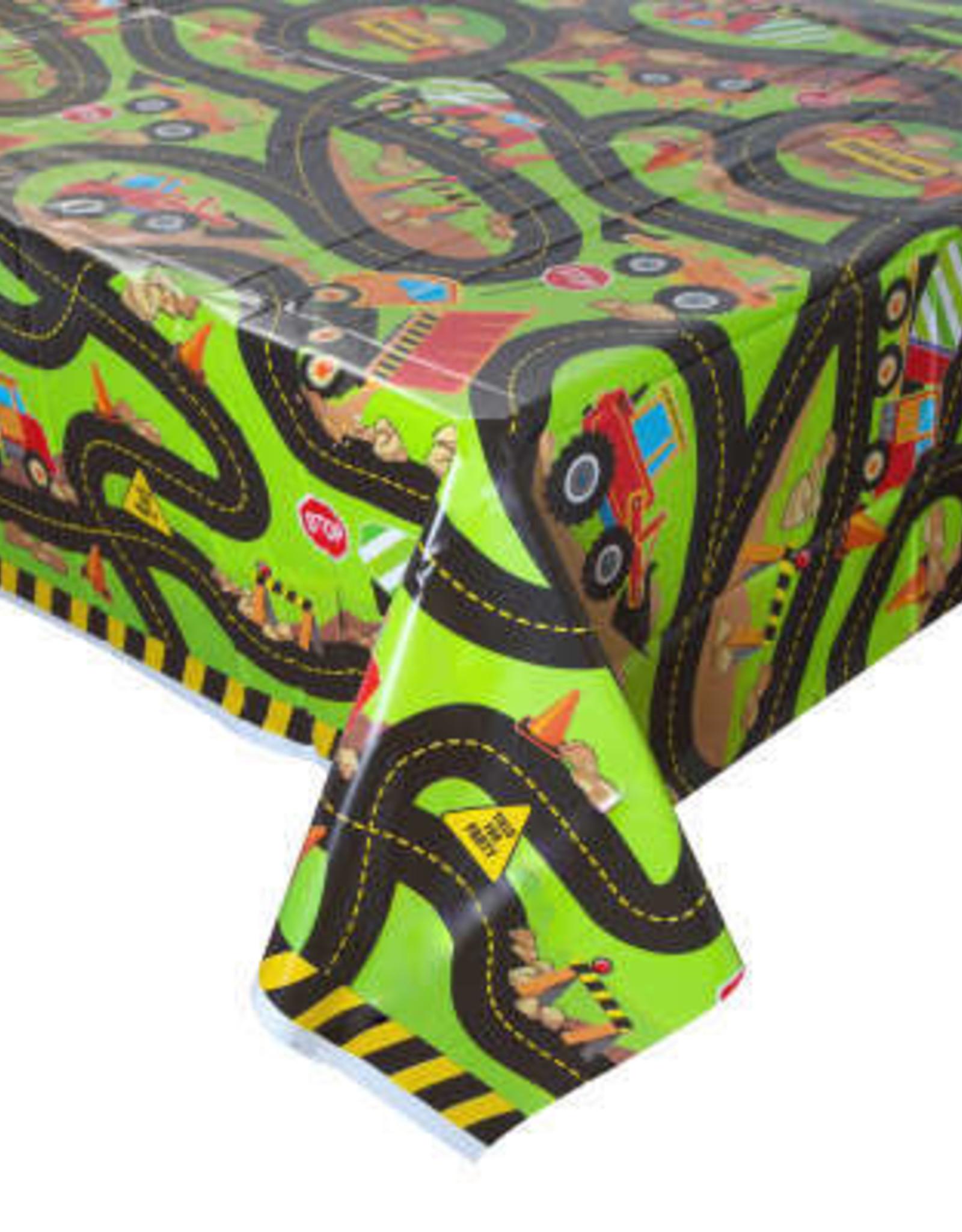 Construction Plastic 6FT Tablecloth