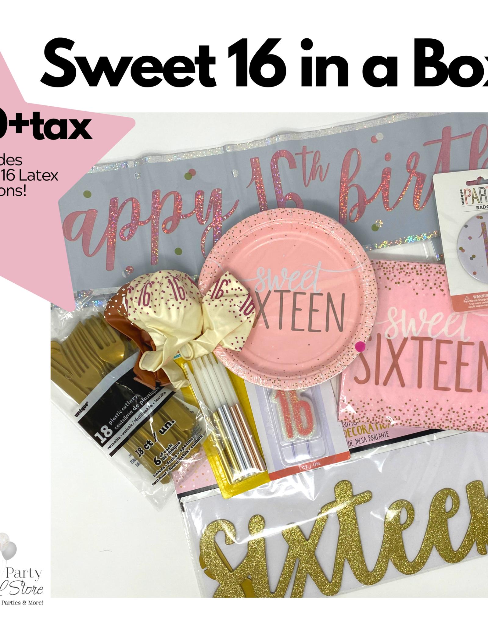 Sweet 16 Birthday Box Rose Gold