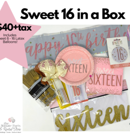 Sweet 16 Birthday Box Rose Gold
