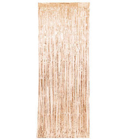 Rose Gold Fringe Door Curtain 8FT