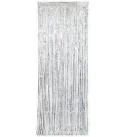 Silver Fringe Door Curtain 8FT