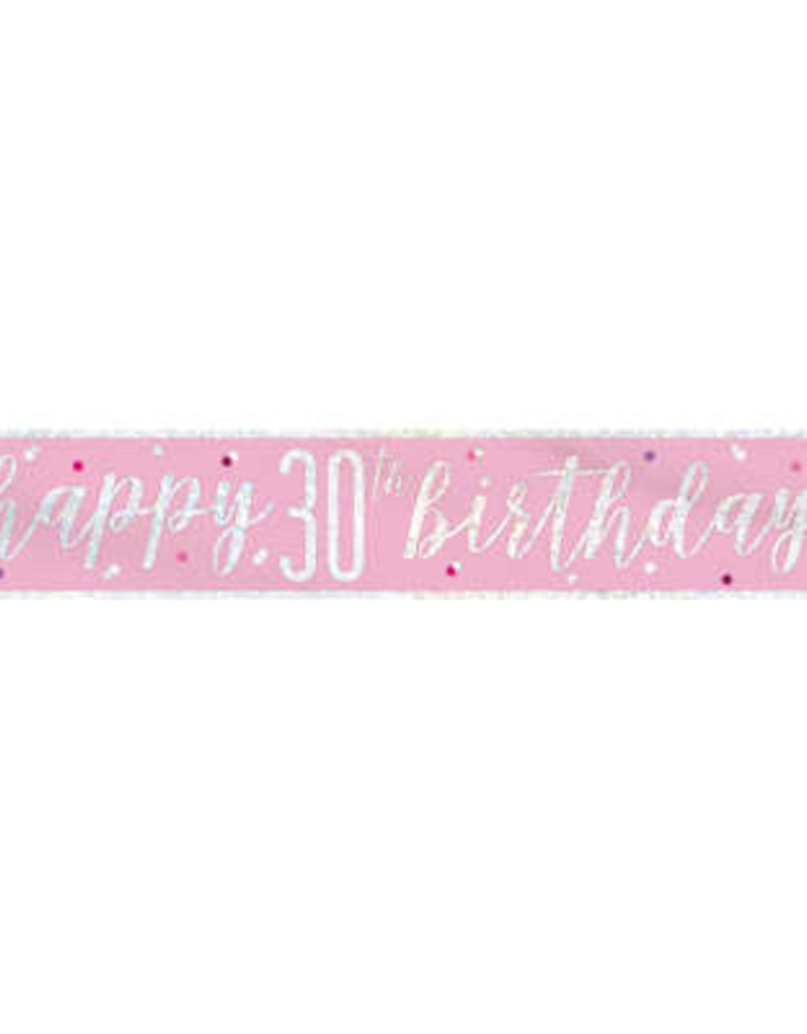Pink & Silver 9FT 30th Birthday Banner