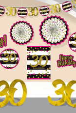 30th Birthday Pink & Gold Room Decorating Kit
