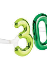 Metallic 30th Birthday Glasses
