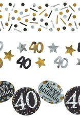 40th Birthday Gold Confetti Mix Pack 1.2oz