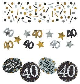 40th Birthday Gold Confetti Mix Pack 1.2oz