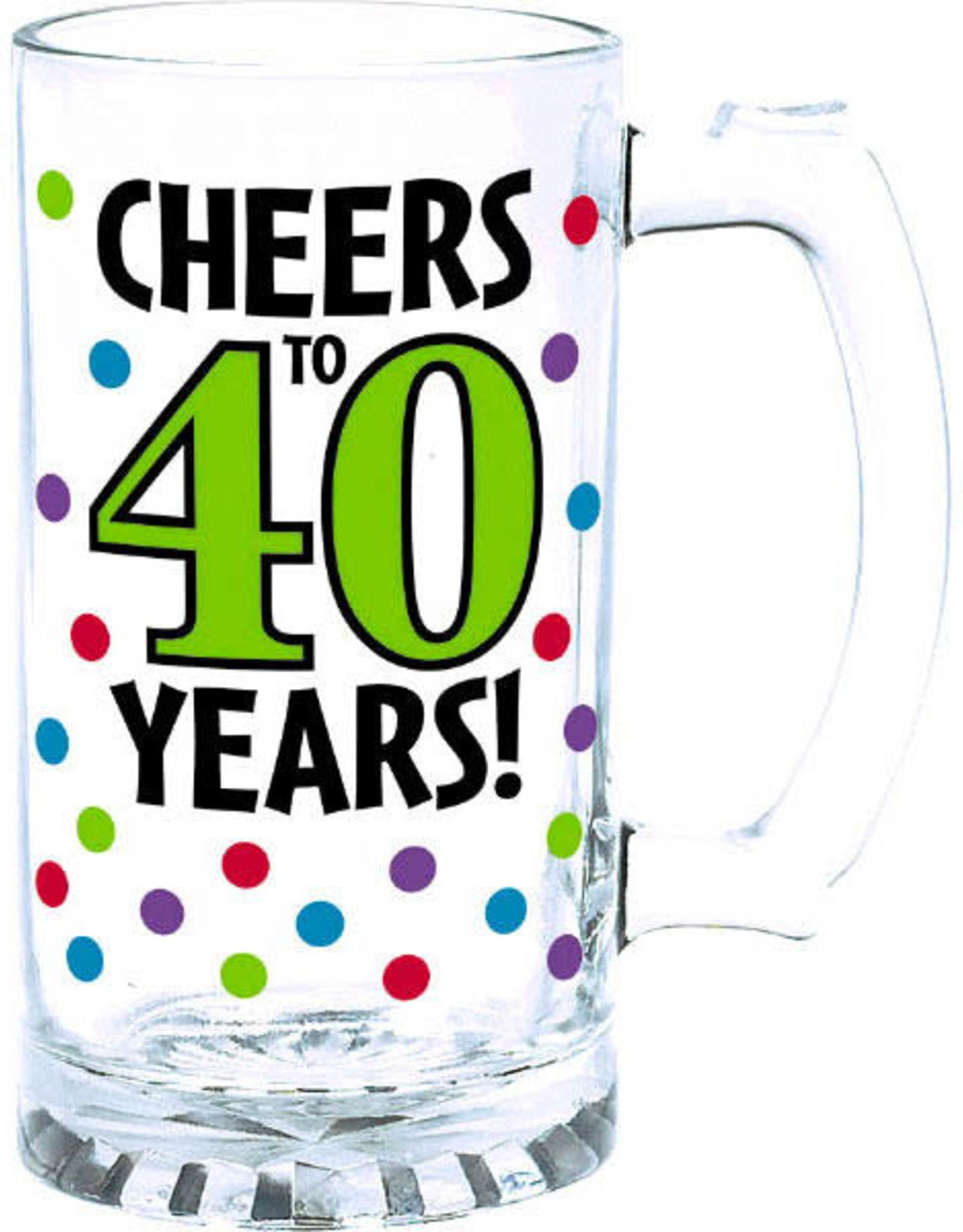 40th Birthday 15oz Beer Mug