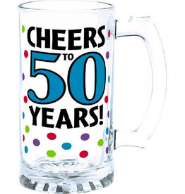50th Birthday 15 oz Beer Mug