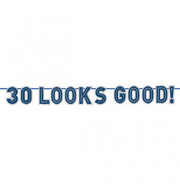 '30 Looks Good!' 30th Birthday Banner