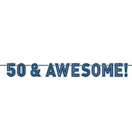 '50 & Awesome! 50th Birthday Banner