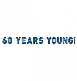 '60 Years Young!' 60th Birthday Banner