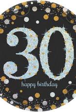 30th Birthday Dessert Plates Sparkling Celebration