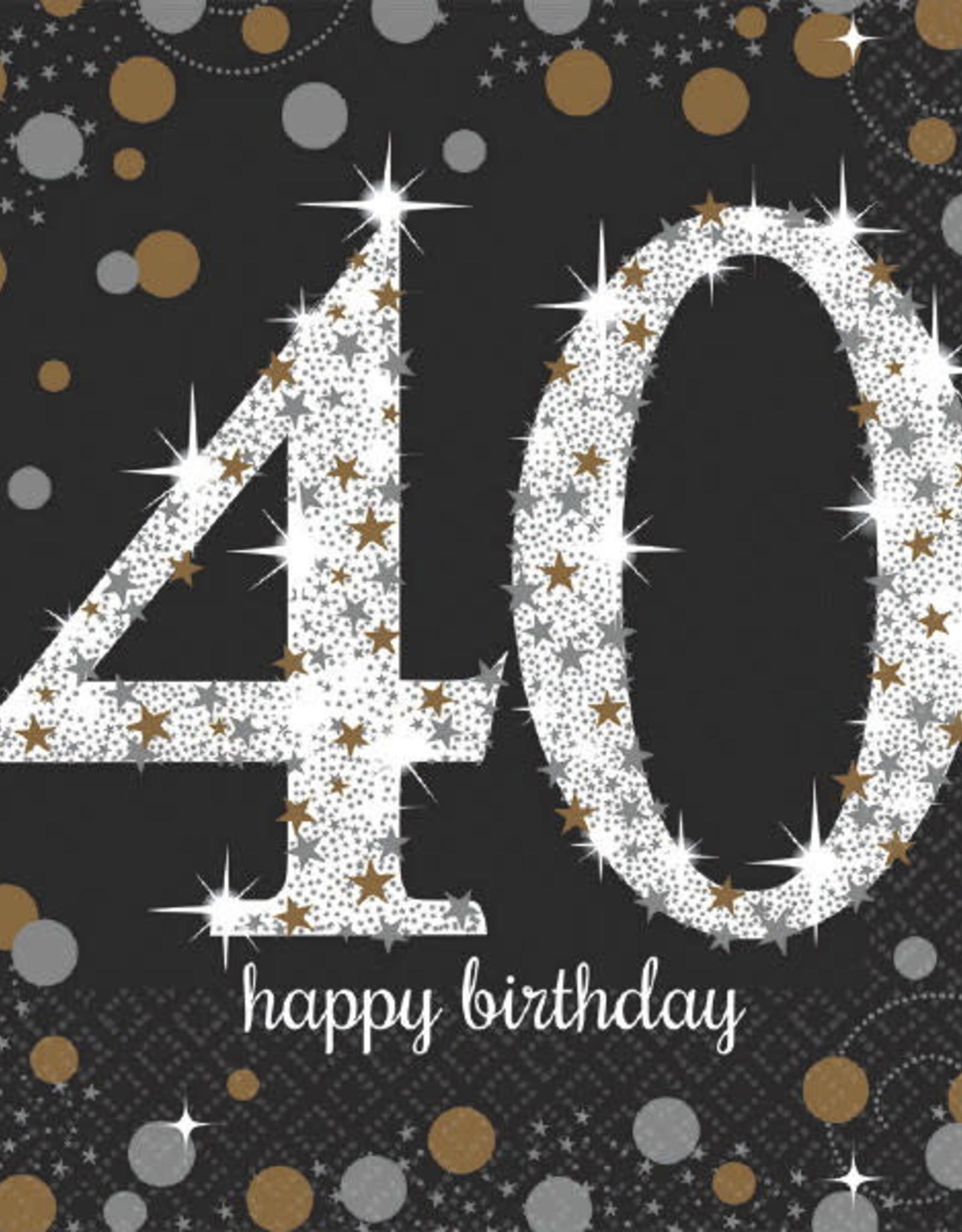 40th Birthday Sparkling Celebration Luncheon  Napkins
