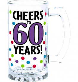 60th Birthday Beer Mug 15oz
