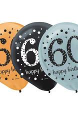"Sparkling Celebration ""60"" Latex Balloons 12"" 15 pk"