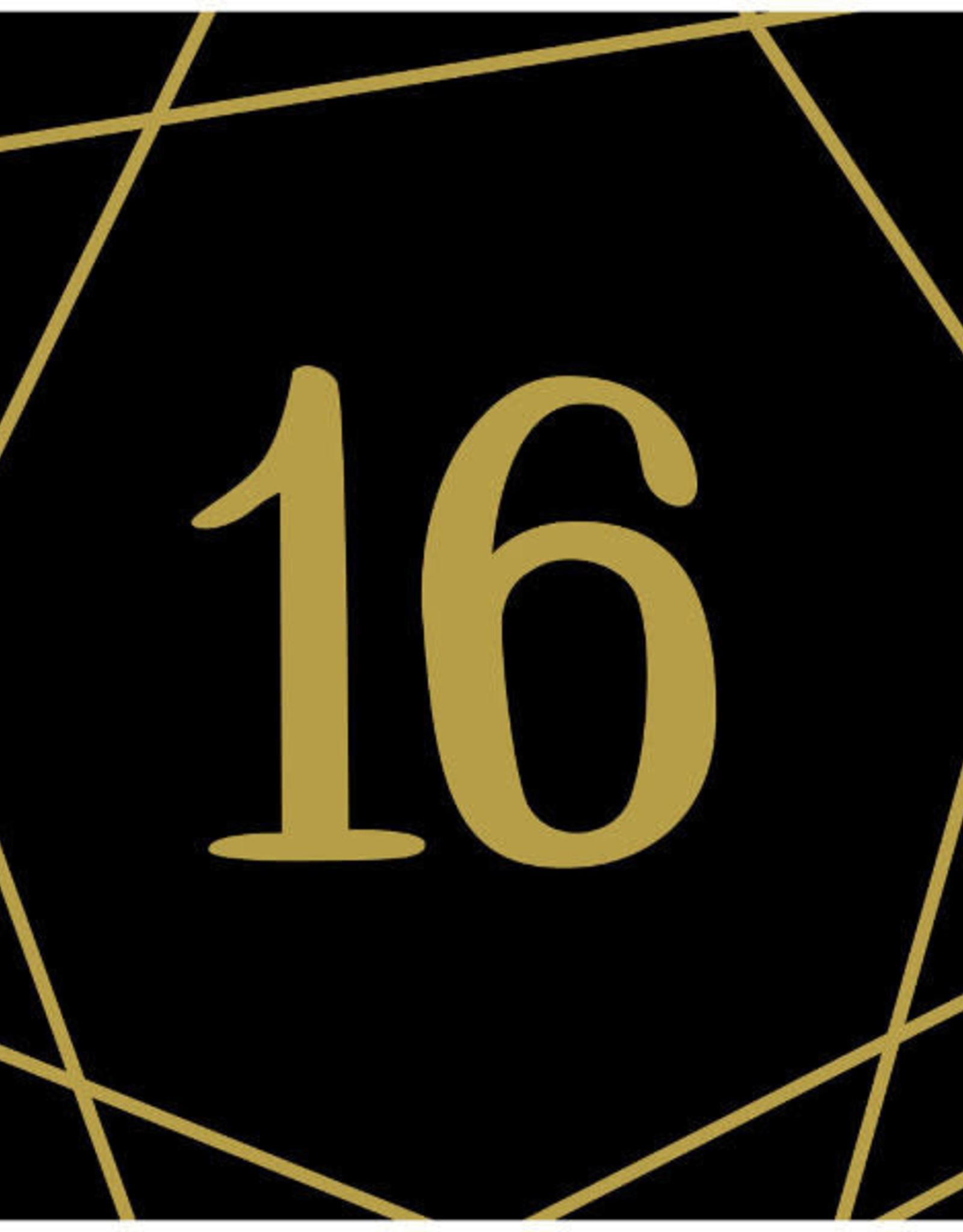 16th Birthday Gold & Black Beverage Napkins