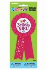 'Birthday Girl' Award Ribbon Pin