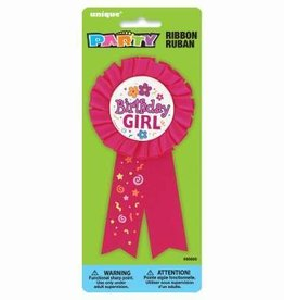 'Birthday Girl' Award Ribbon Pin