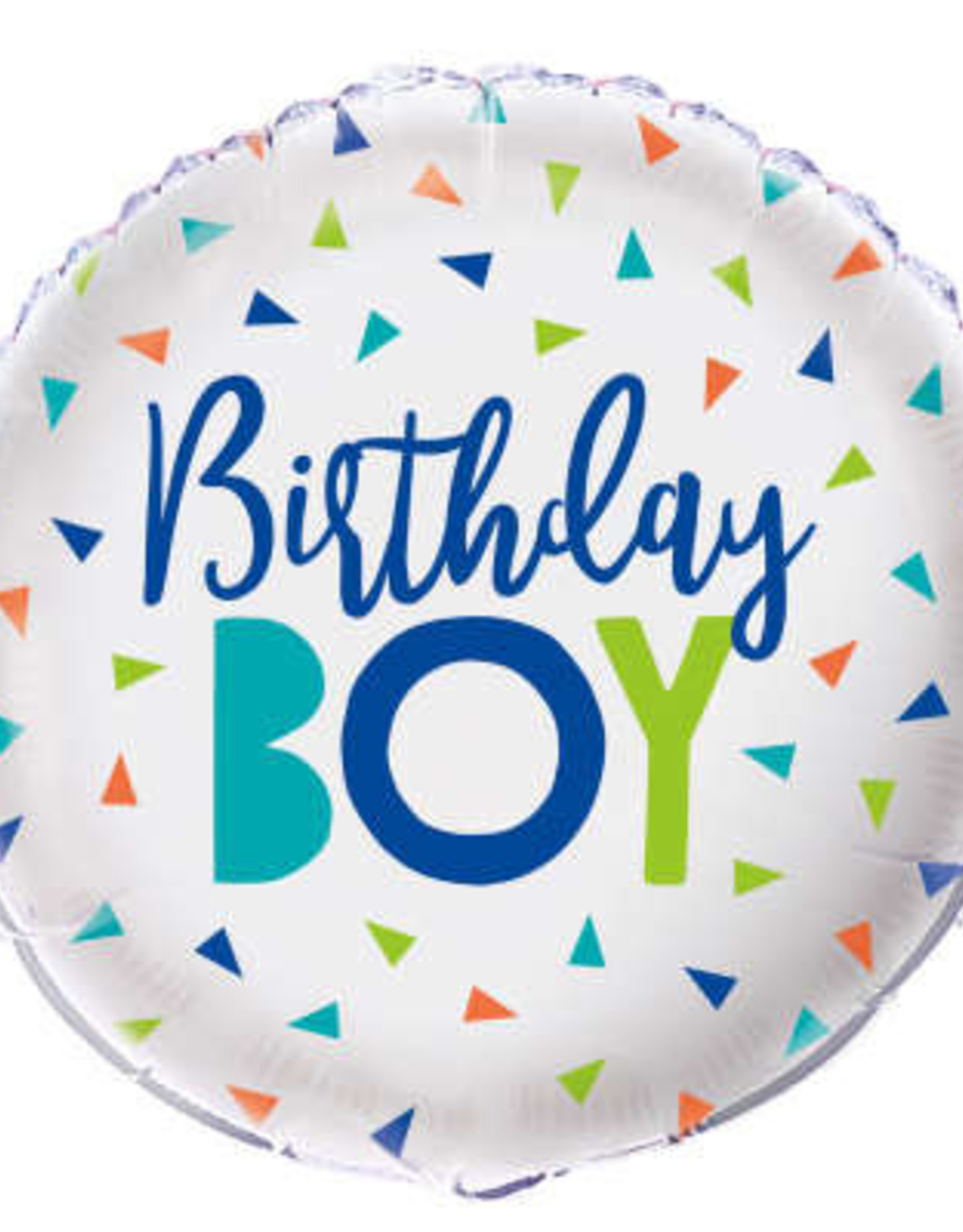 Confetti 'Birthday Boy' Foil Balloon 18""