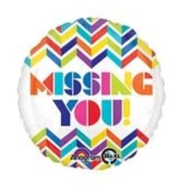 "Missing You 18"" Mylar Balloon"