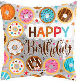 "'Happy Birthday' Donut Square 18"" Mylar"