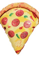 Pizza Shaped Foil Balloon 25""
