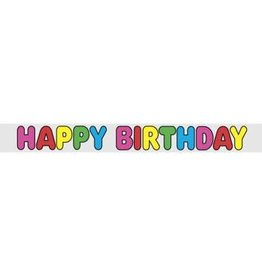 Classic Happy Birthday 12FT Banner