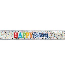 Polkadot Happy Birthday 12FT Banner