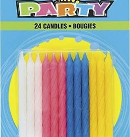 Twist Birthday Candles 24ct
