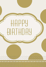 Golden Birthday Luncheon Napkins 16ct