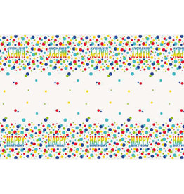 "Rainbow Spots Birthday Rectangular Plastic Table Cover 54""x84"""
