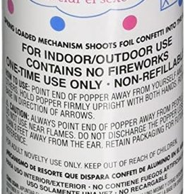 Blue Gender Reveal Poppers Single Popper