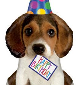 "Happy Birthday Giant Dog  Foil Balloon 41"""