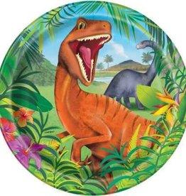 """Dinosaur Dinner Plates 9"""""""