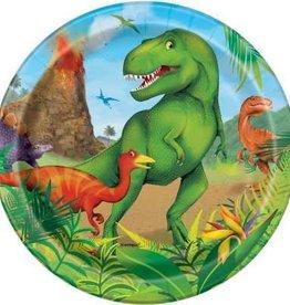 "Dinosaur Dessert Plates 7"""