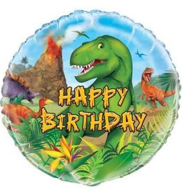 Dinosaur 'Happy Birthday'  Foil Balloon 18""