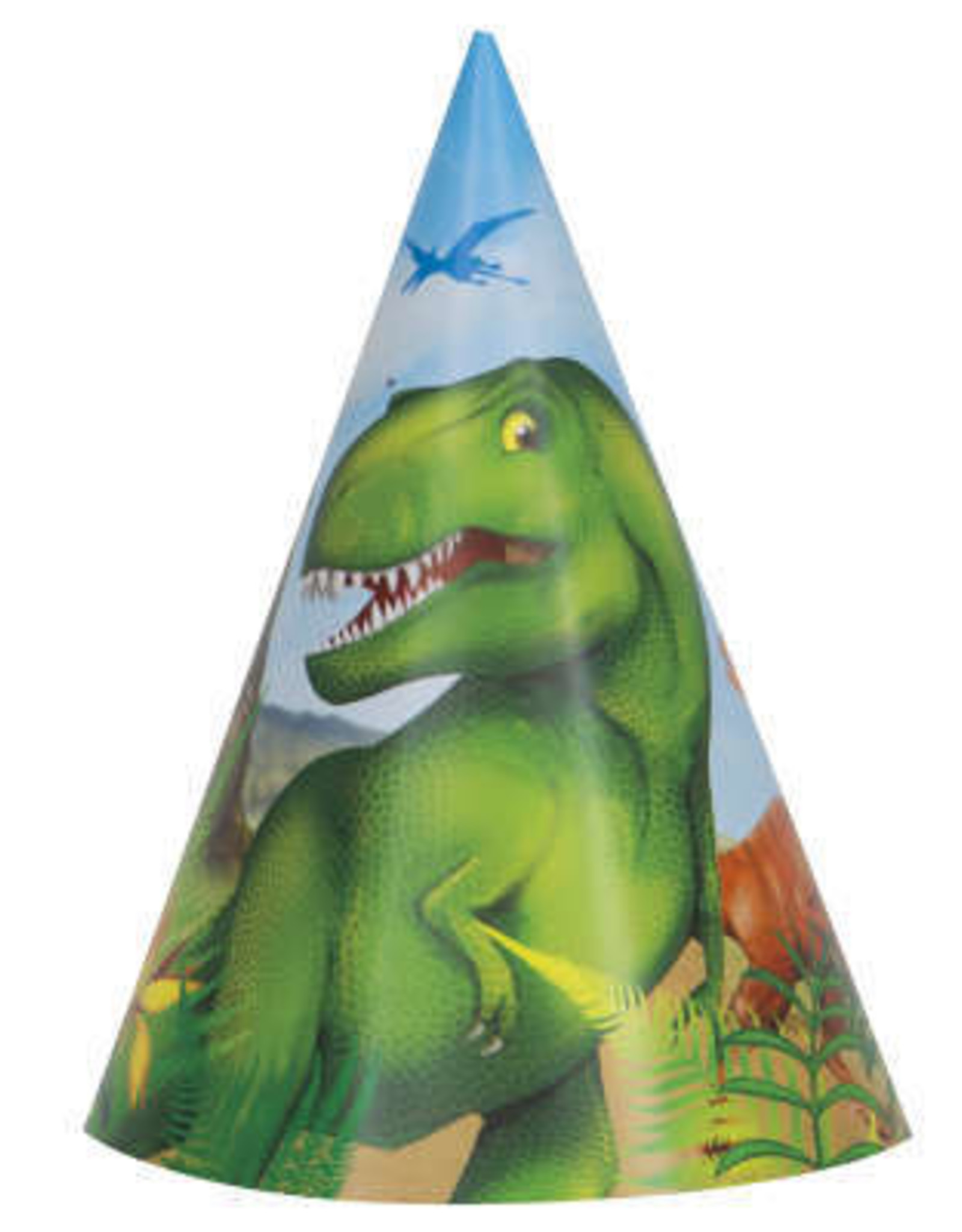 Dinosaur Party Hats 8ct